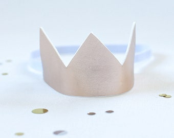 Rose Gold crown - Birthday Crown  - Rose Gold Birthday Outfit  - Frist birthday outfit - Rose Gold Birthday crown  -Cake Smash Outfit girl
