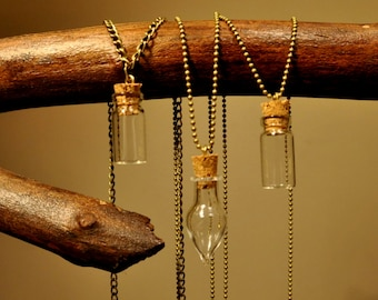 Wishing Vial Pendant Necklace