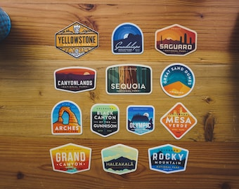 Pick Any 5 - National Park Stickers