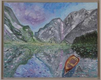 Boat at idyllic place