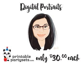Digital Portrait / Digital Caricature / Family Portrait / Personal Portrait / Sketch Portrait / Cartoon Portrait / Cartoon Caricature