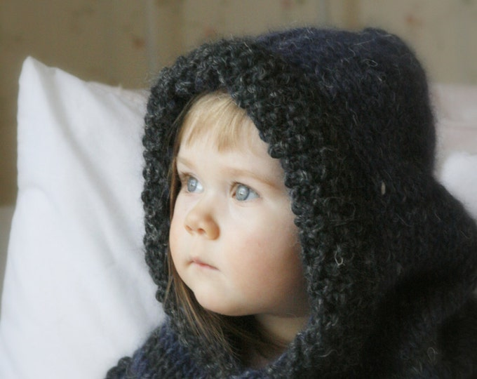 KNITTING PATTERN basic hood Harlow (baby, toddler, child, teen, adult sizes)