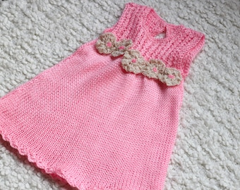 knitted dress,12 m knitted dress/jumper,pink dress gift