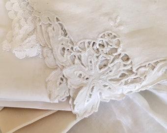 Vintage Hankies Lace Handkerchiefs Set of 20