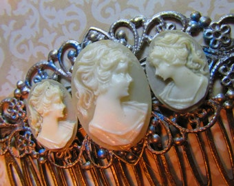 Cameo Hair Comb Victorian Wedding Vintage Hair combs cameo Hair Accessories Decorative Combs