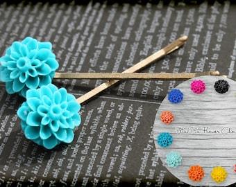 Decorative Bobby Pins, Hair Accessories, Hair Pins, Flower Bobby Pins, Hair Bobby Pins, Flower Pins, Flower Girl Hair Pins, Hair Accessory