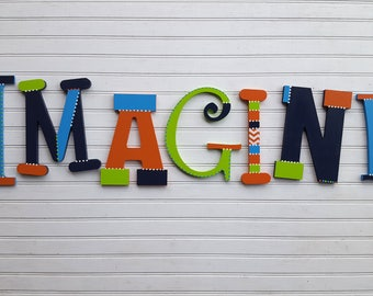 Play Room Decor - Word Wall Letters - Kids Play Room -  Reading Room - Movie Room