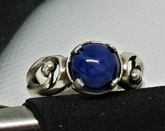 Ring, Lab Star Sapphire