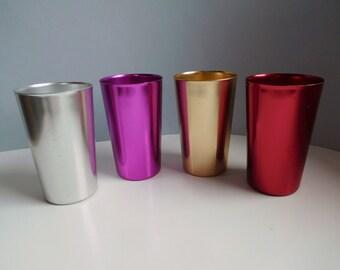 Vintage Mid-century alumium gobelets Paulin aluminium ait métal gorges et