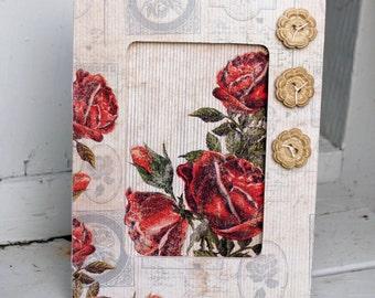 Handmade Wood Frame Embellished