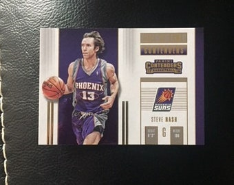 Steve Nash NBA Basketball Player - Phoenix Suns Trading Card - Actual Hall of Fame Card from Panini Contenders - Mint Condition