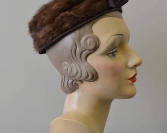 "1960s Mister ""T"" Brown Fur Hat"