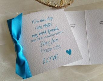 Marry My Best Friend Wedding Invitations - SAMPLE