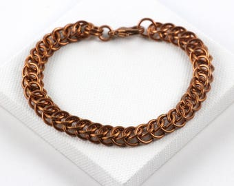 Persian Chainmaille Bracelet | Hand Crafted Chainmaille Jewelry | Handmade Bracelet | Copper Chainmaille