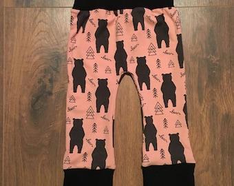 Rolling bear pants pink