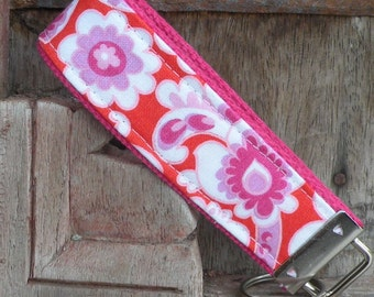 Key Chain-Key Fob-Wristlet- Nelly on Pink-READY TO SHIP