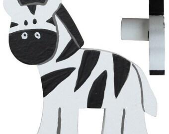 Zebra Drawer Knob - Safari Zebra Drawer Pull