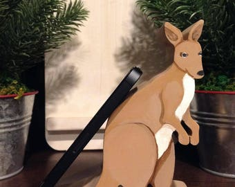 Kangaroo Cell Phone Holder, Phone Stand, iPhone stand