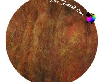 Needle Felting Wool Batt / HFB32 Harvest Carded Wool Fluffy Batt