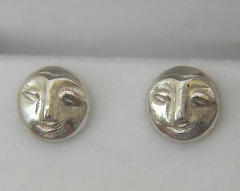 Silver Argentium littleface earrings