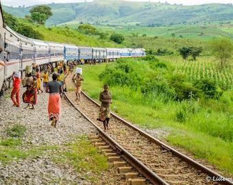 Train sellers in Tanzania, photography