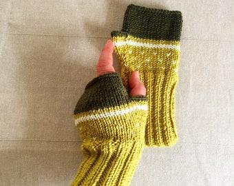 Fingerless Gloves Women, Arm Warmers Green, Hand Warmers Women, Knit Fingerless Gloves Wool, Winter Accessories, Lover Gift, Hand Warmers