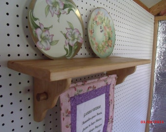 Wall Hanger, Small Quilt Hanger, Birthday Gift, Housewarming Gift,Wedding Gift, Quilt Rack, Wood Shelf
