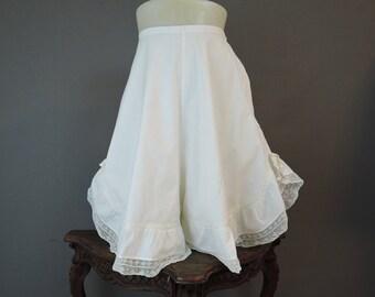 Vintage Edwardian Bloomers with Wide Legs, XS 23 waist, Antique Underwear Lingerie, 1900s 1910s