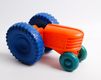 Vintage plastic Toy Car, Tractor  (RT005)