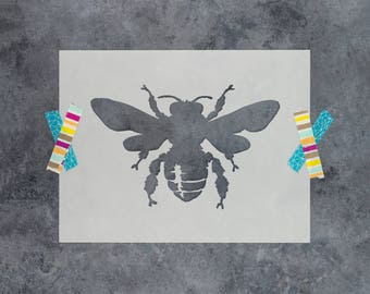 Bee Stencil - Reusable DIY Craft Stencils of a French Bumble Bee