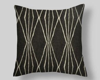 Black PILLOW COVERS, Back Pillows, Pillow, Black Pillow, Decorator Pillow  Beach Decor, . Cushion. All Sizes  Euro Black Throw Pillow