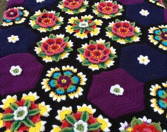 Frieda's Flowers Blanket
