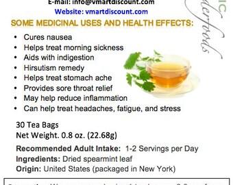 Simply Natural 100% Organic Spearmint Herbal Tea, 30 Tea Bags – Caffeine-Free