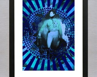 Decorative print ' General in Darkness' - Without frame - Optional passepartout and framing