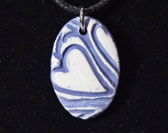 Textured Heart Pendant