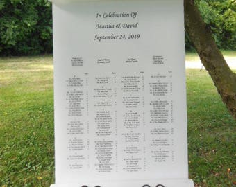 Pure & Simple Seating Chart, seating chart, event seating, seating sign, wedding seating chart