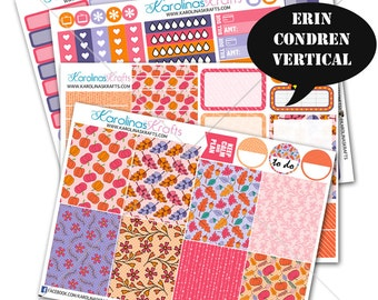 Pink Autumn Fall Stickers, Fall Planner Kit 200+ Autumn Planner Stickers, for Erin Condren Stickers, October Planner Stickers #SQ00323-ECV