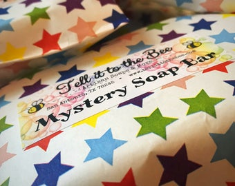 Mystery Soap Bar / Surprise yourself  / Fun Gift - Everyday - Mysterious - Blind date with a lovely bar of soap / Have Fun Be Adventurous