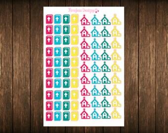 Bible Study & Church Stickers Perfect For The Erin Condren Life Planner/Filofax/Kikki k/Plum Paper Planner