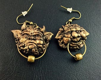 Made to order Labyrinth door knockers inspired earring set
