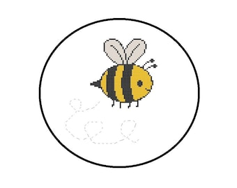 Baby Bumble Bee Cross Stitch Pattern, PDF Chart, Instant Download, Nursery Decor Pattern