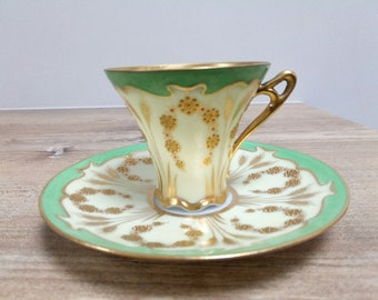 Pretty Cup porcelain Art nouveau, gold hands, Germany