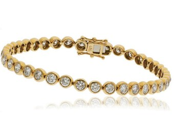 1.00ct Diamond Tennis Bracelet in 9CT Yellow Gold