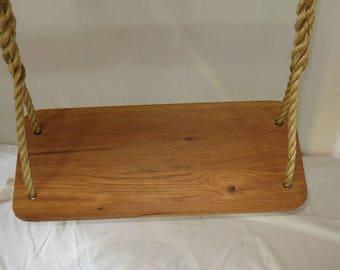 Classic Oak Swing,Oak Swing,Tree Swing,wood tree swing,child swing,swing,garden swing,spliced rope swing,rope swing