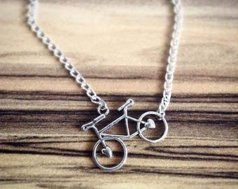 I like to ride my bicycle pendant