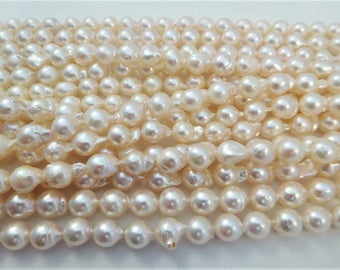 7-8mm Semi-Round/Baroque Akoya Pearl Necklace Strands