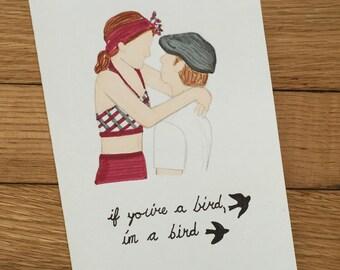 """The Notebook- """"If you're a bird, I'm a bird"""" Card"""