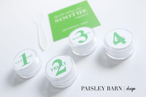 GREEN Regimen Travel Kit | skincare, travel kit, toner, containers, stickers, carry on, sensitive