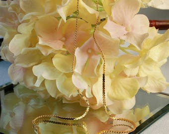"""14K Serpentine Necklace 15"""" in Length Birthday, Gift"""
