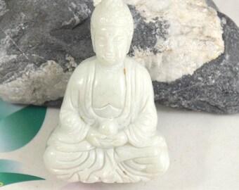 Carved jade pendant etsy studio large carved jade pendantcharm white jade pendant the buddha jade amulet talisman necklace pendant jewerly mozeypictures Images
